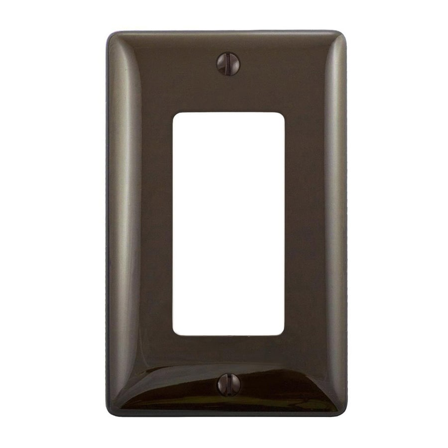 Hubbell 1-Gang Brown Single Decorator Wall Plate