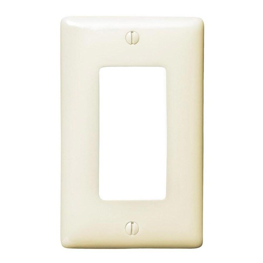 Hubbell 1-Gang Light Almond Single Decorator Wall Plate