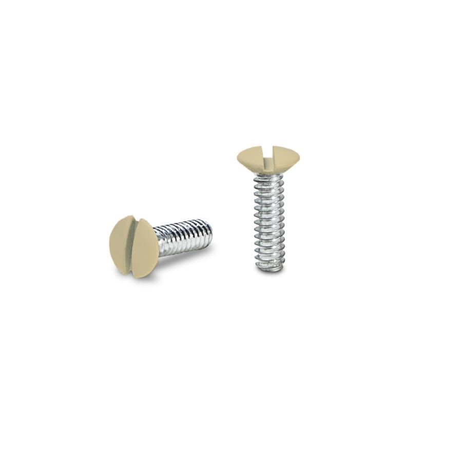 Hubbell 10-Pack #6 to 32 x 0.5-in Ivory Wall Plate Screws