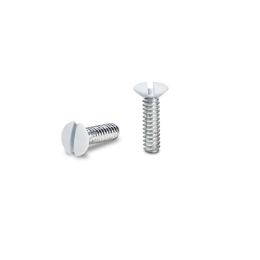 Hubbell 10-Pack #6 to 32 x 0.5-in White Wall Plate Screws