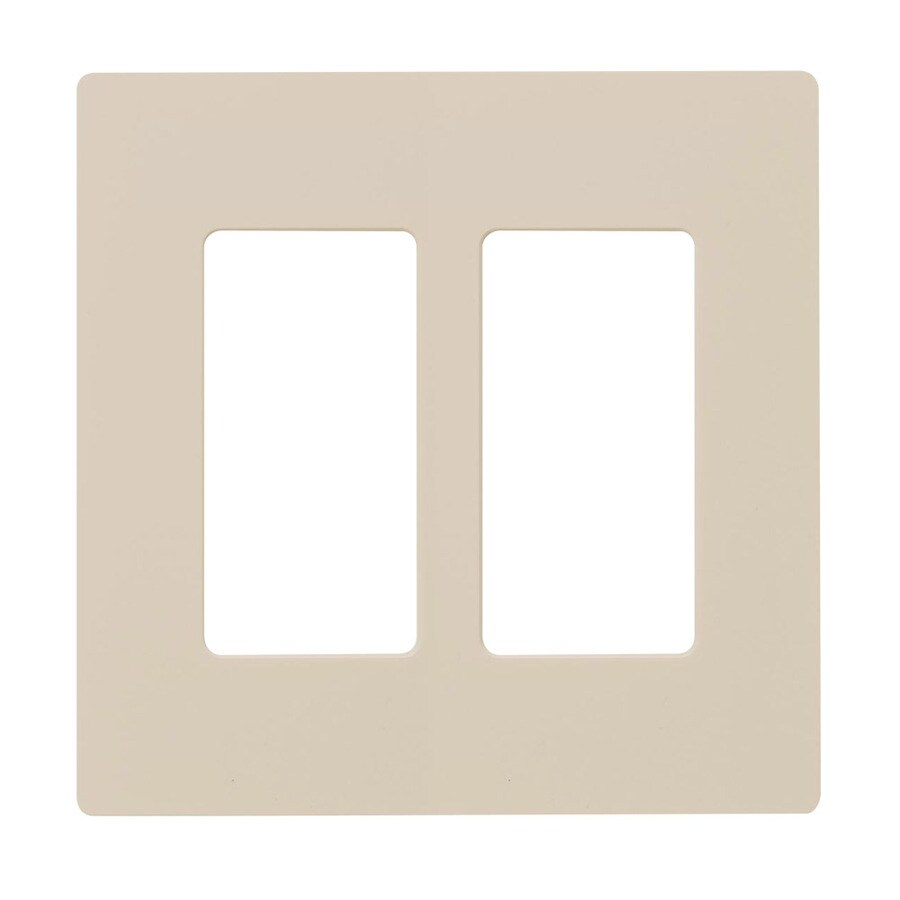Hubbell 2-Gang Light Almond Double Decorator Wall Plate