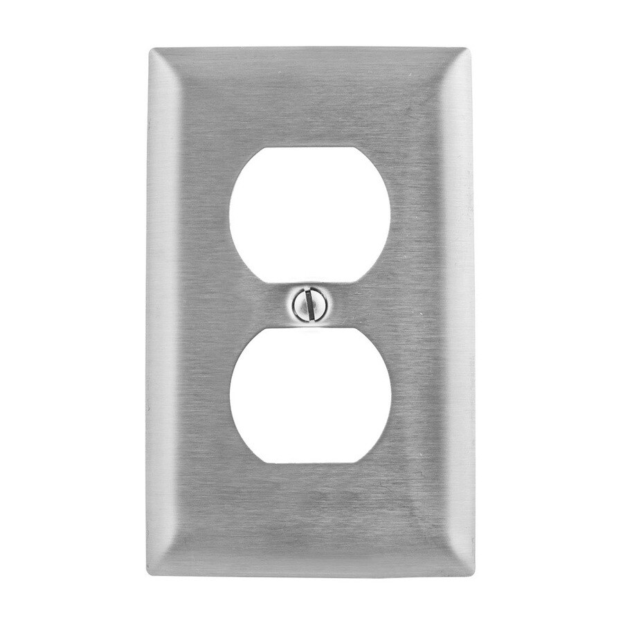 Hubbell 1-Gang Stainless Steel Wall Plate