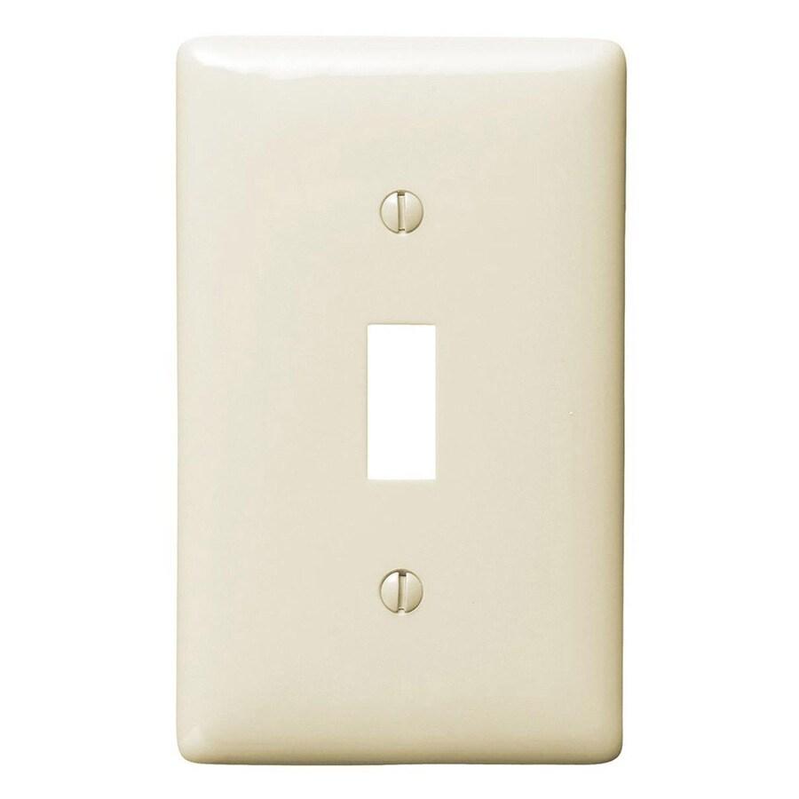 Hubbell 1-Gang Light Almond Single Toggle Wall Plate