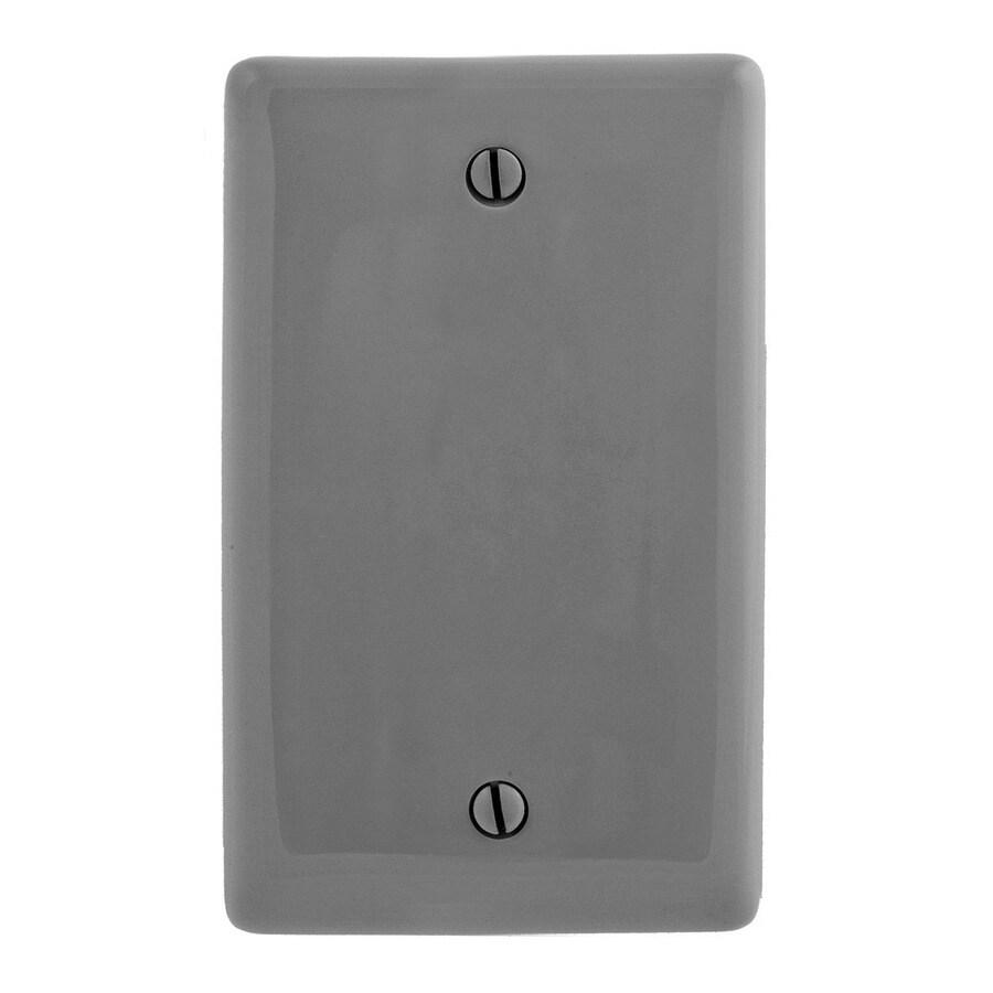 Hubbell 1-Gang Gray Single Blank Wall Plate
