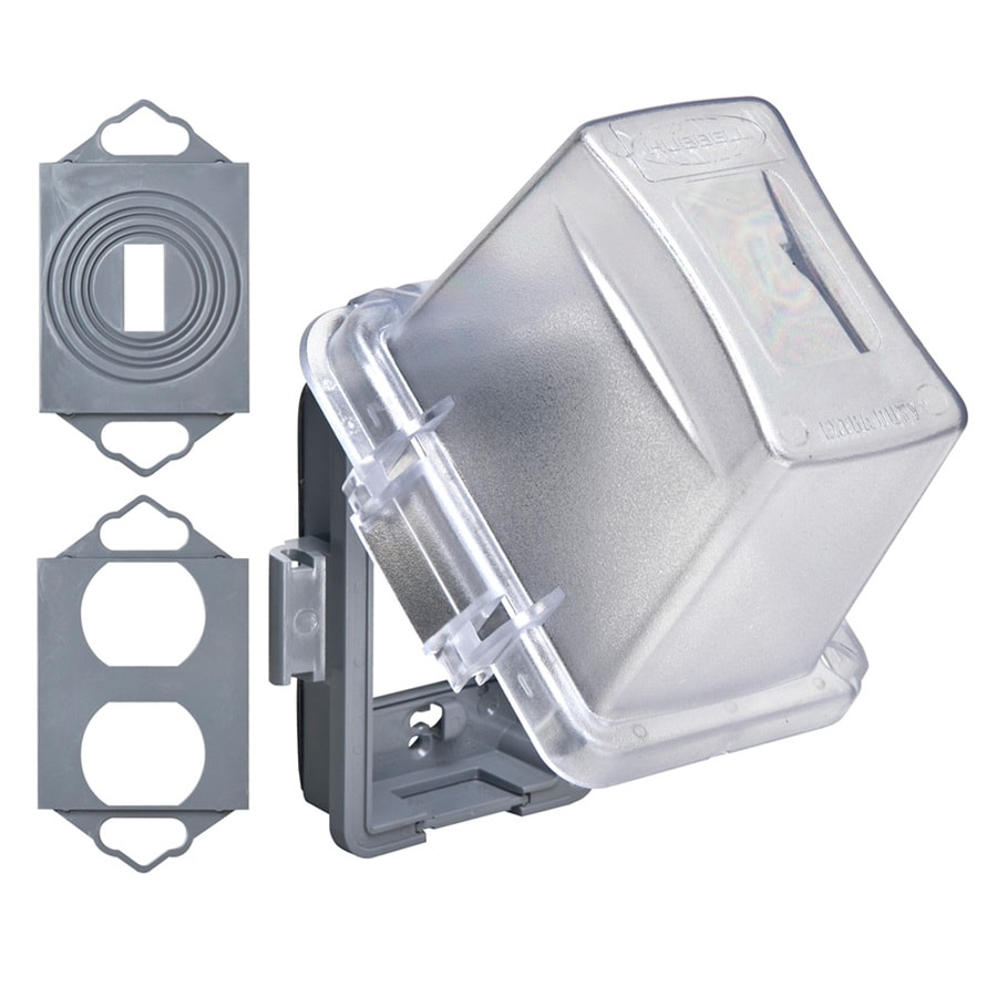shop hubbell taymac 1 gang rectangle plastic weatherproof. Black Bedroom Furniture Sets. Home Design Ideas