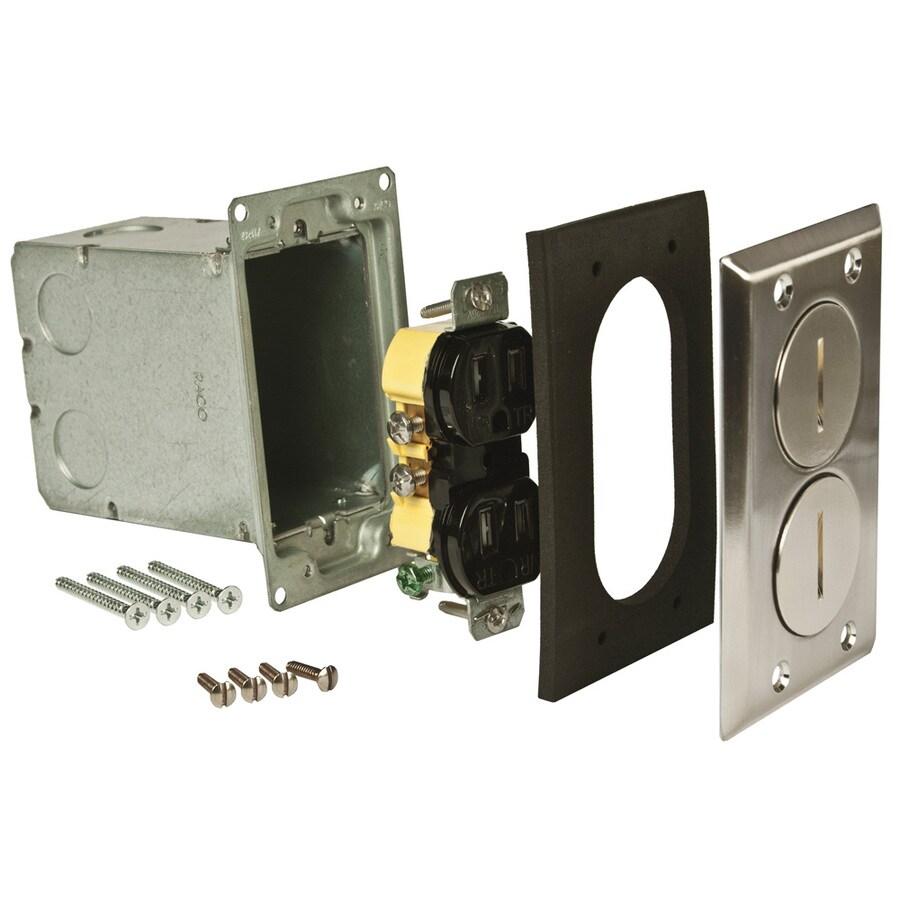 Raco 18.5-cu in 1-Gang Metal Floor Floor Electrical Box