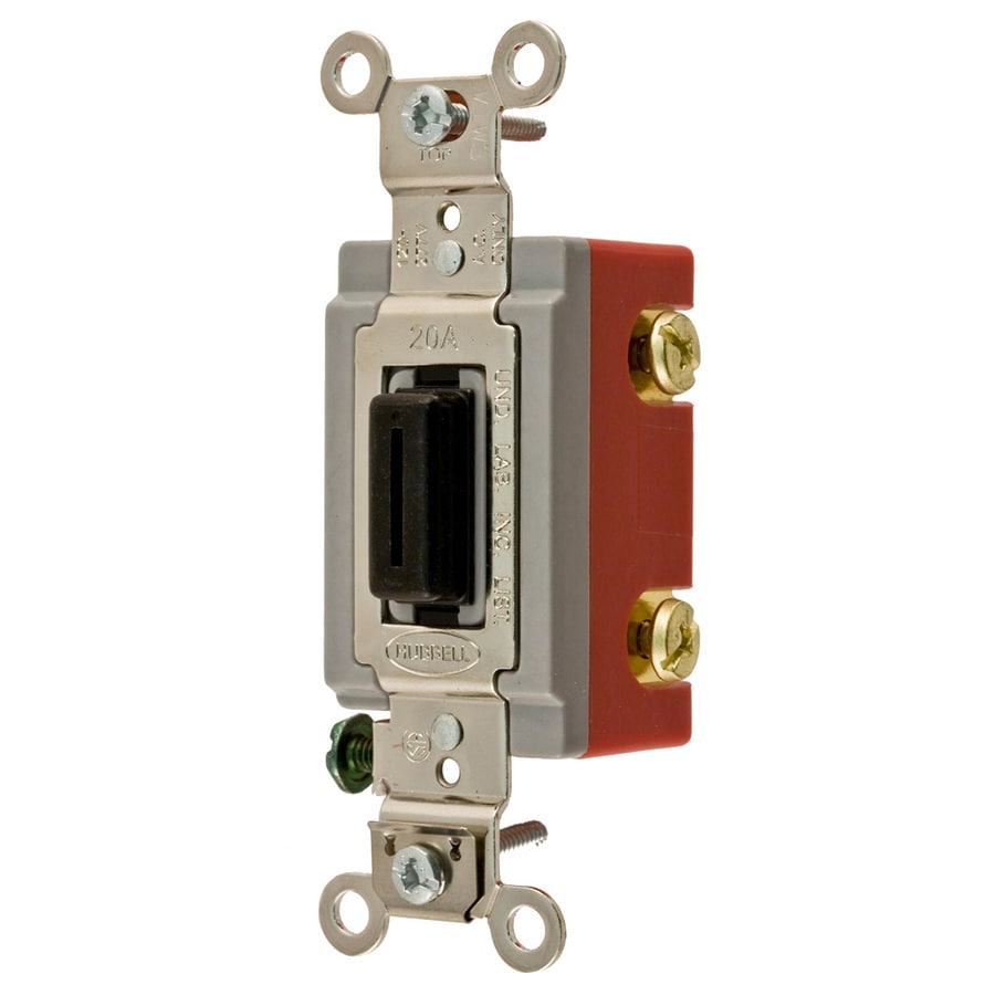 Hubbell 15/20-Amp Single Pole Black Indoor Toggle Light Switch