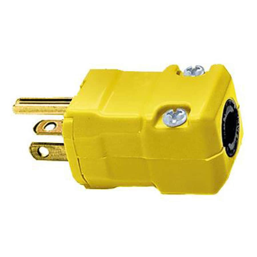 Hubbell 20-Amp 125-Volt Yellow 3-Wire Grounding Plug
