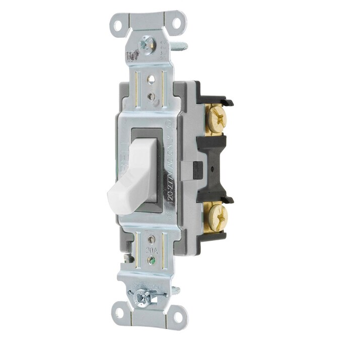 hubbell 3-way white led toggle light switch in the light switches  department at lowes.com  lowe's