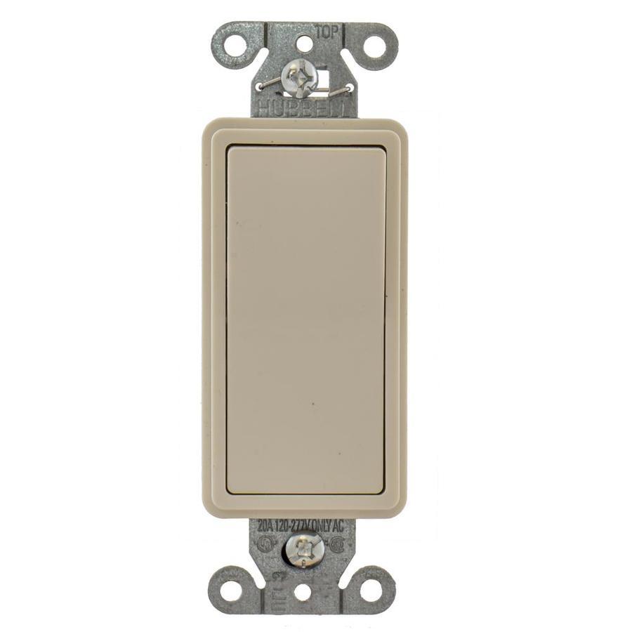 Hubbell 15/20-Amp 3-Way Light Almond Indoor Rocker Light Switch