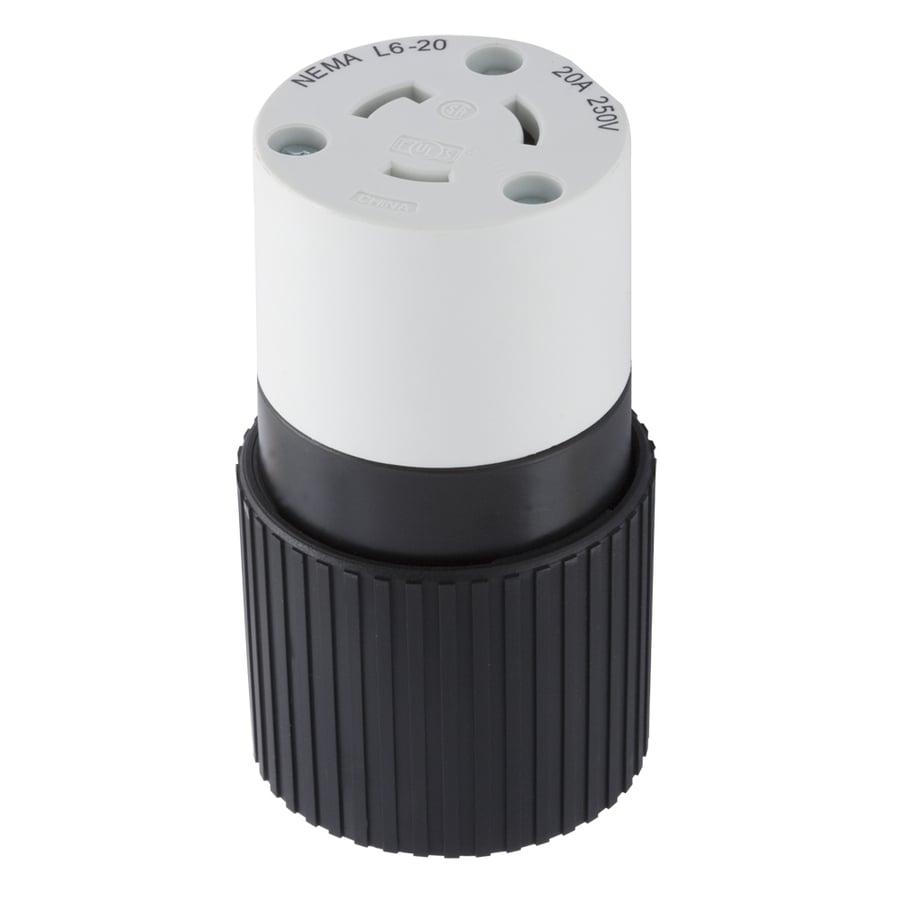 Hubbell 20-Amp 250-Volt Black/White 3-Wire Grounding