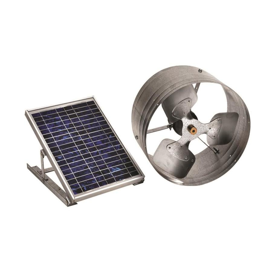 Master Flow 500-CFM Silver Galvanized Steel Solar Power Roof Vent