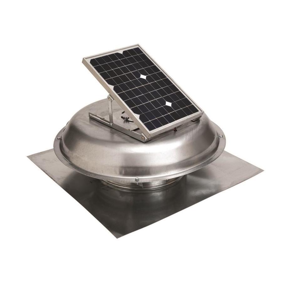 Master Flow 500-CFM Silver Galvanized Steel Solar Power Roof Vent