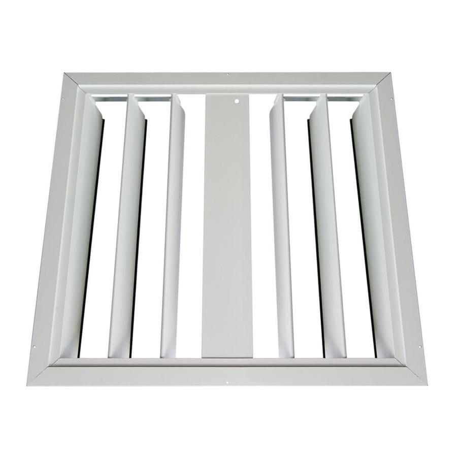 Master Flow 30.25-in x 30-in White Aluminum Whole House Fan Shutter