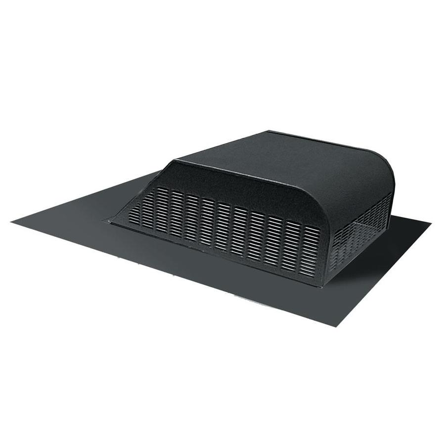 Master Flow 60 NFA Black Aluminum Slant-Back Roof Louver
