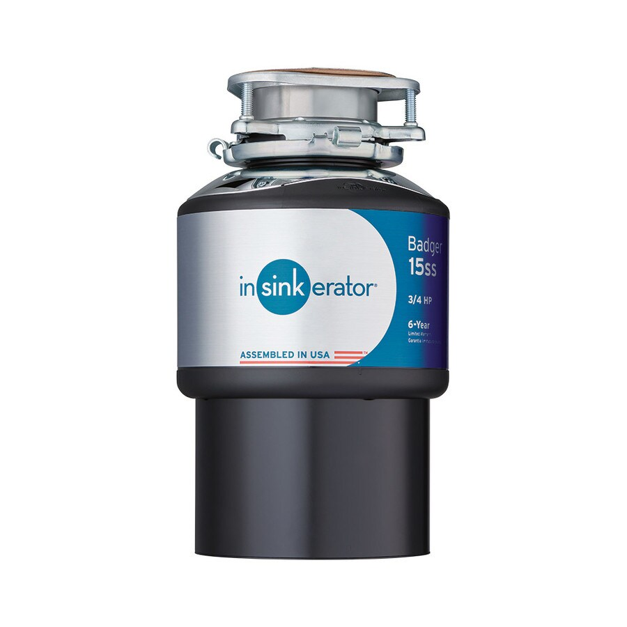InSinkErator Badger 15Ss 3/4-Hp Garbage Disposal