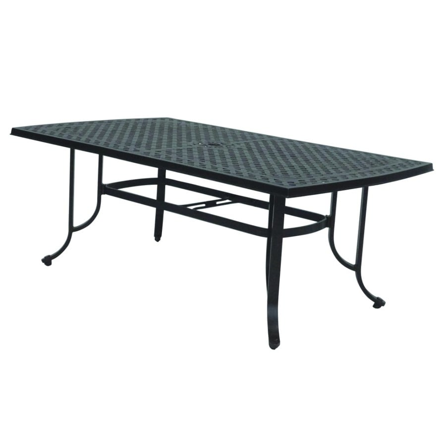 allen + roth Shadybrook Cast Bronze Rectangle Patio Dining Table