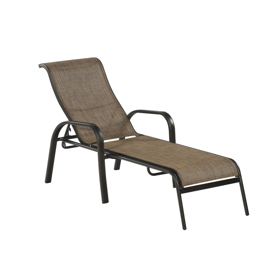 allen + roth Tenbrook Sling Seat Aluminum Patio Chaise Lounge