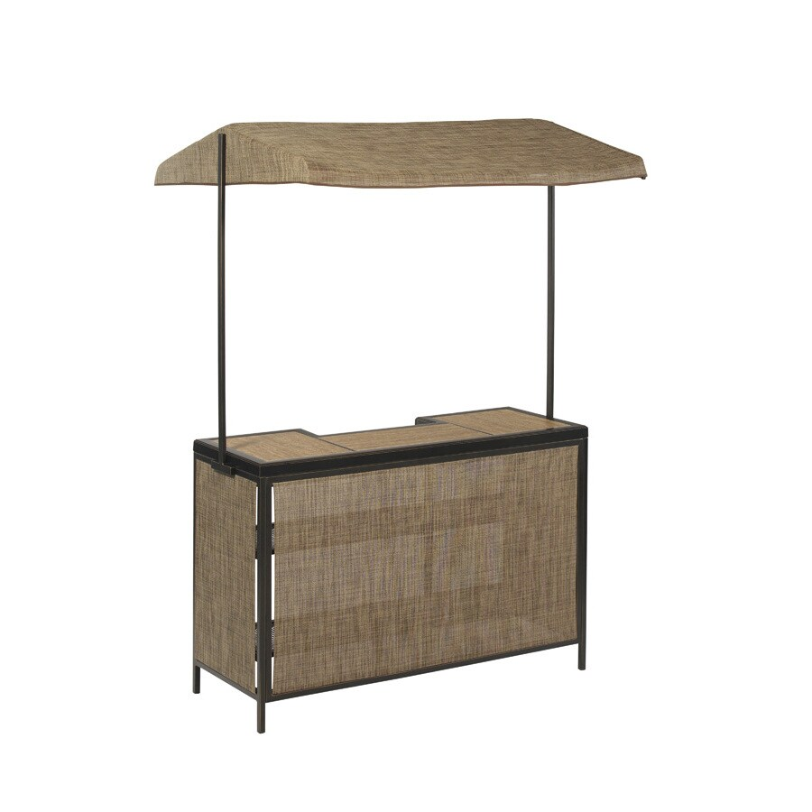 allen + roth Tenbrook 59-in x 59-in Rectangle Tile Patio Bar-Height Table