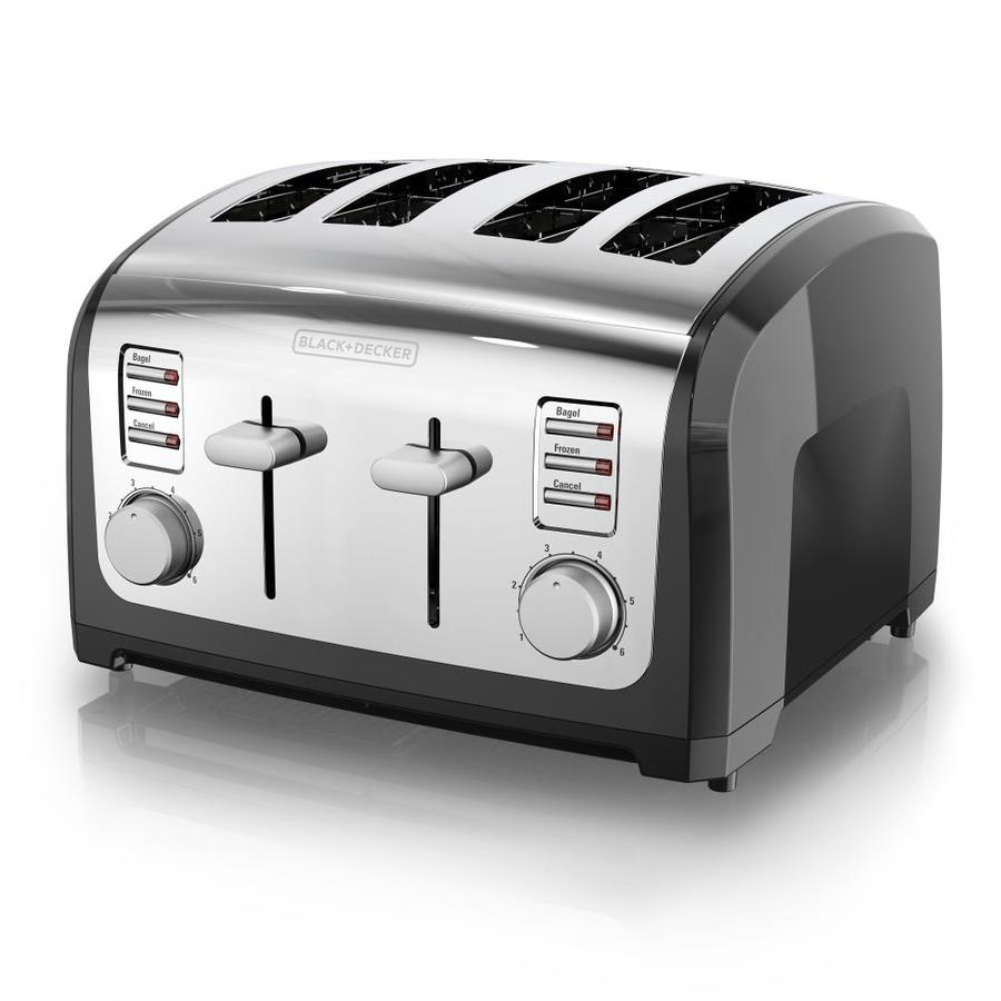 BLACK & DECKER 4-Slice Metal Toaster