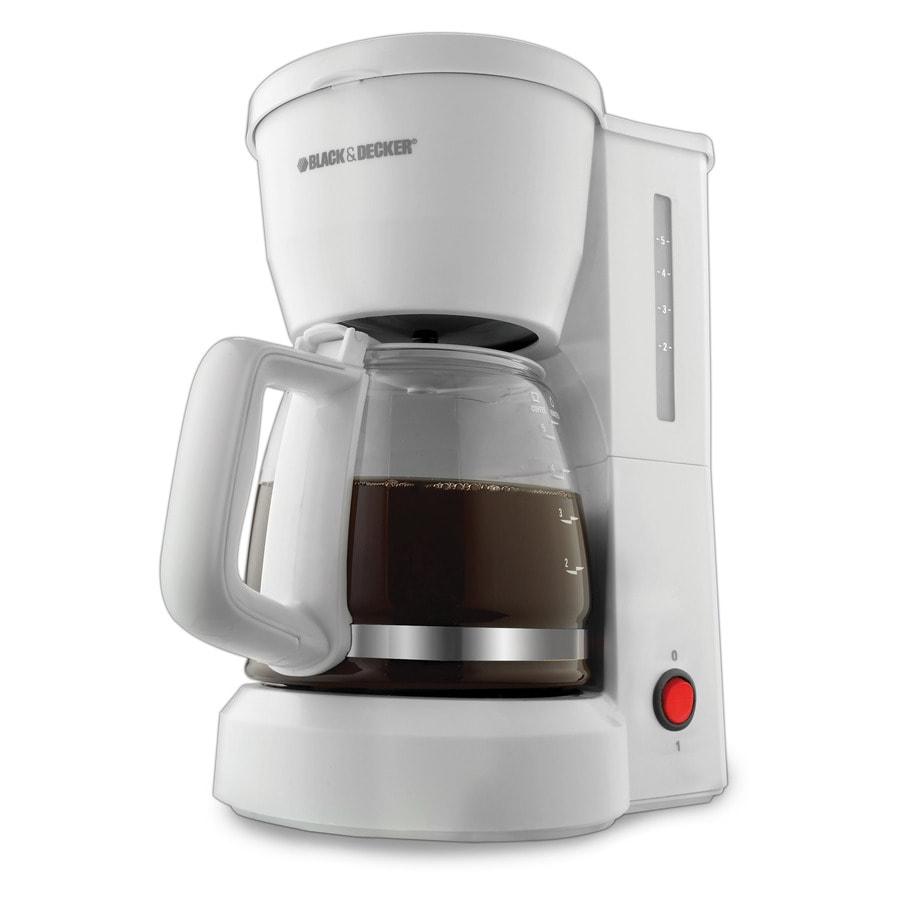 BLACK & DECKER White 5-Cup Coffee Maker