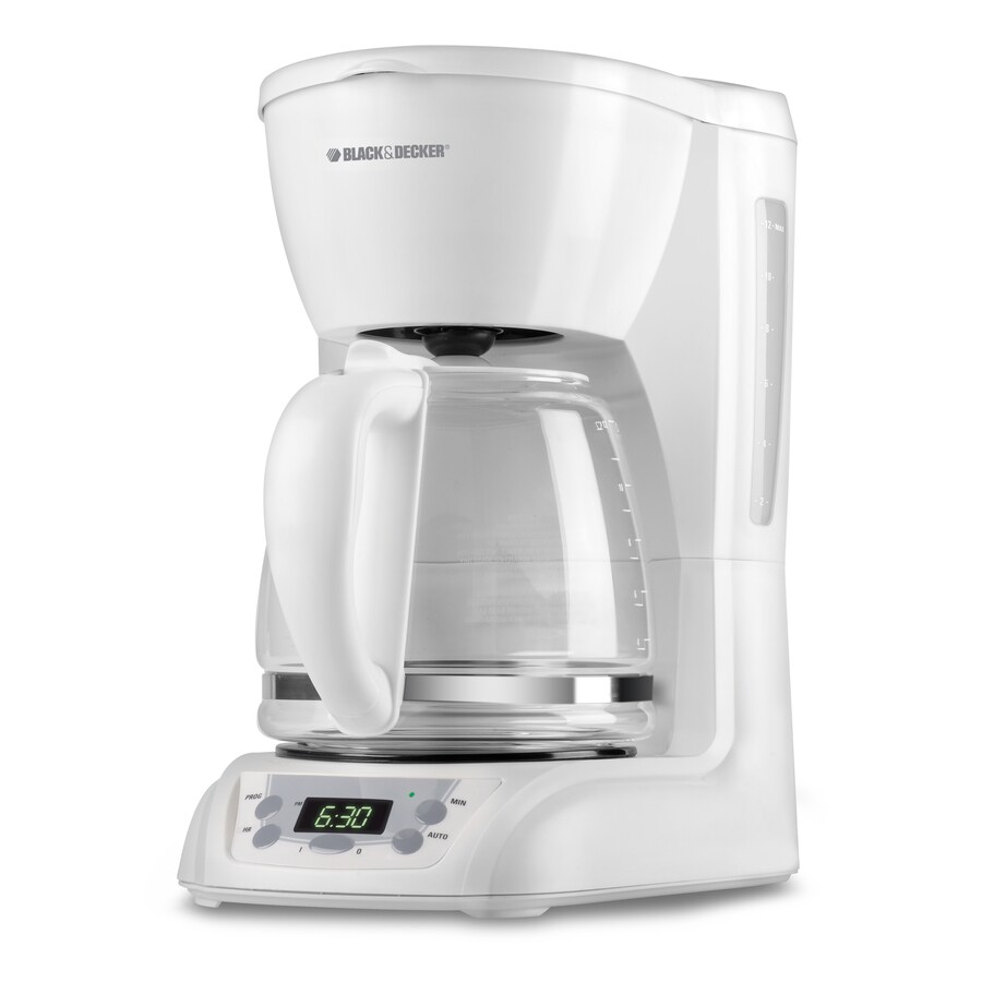 BLACK & DECKER 12-Cup White Programmable Coffee Maker