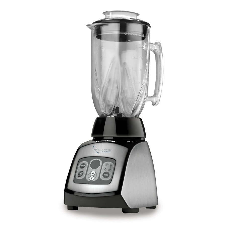 BLACK & DECKER 6-Cup Stainless Steel Glass Blender