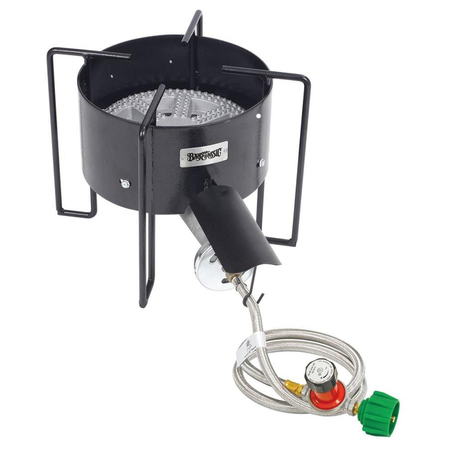 Bayou Classic Banjo 12.5-in 20-lb Cylinder Manual Ignition Black Steel Outdoor Stove