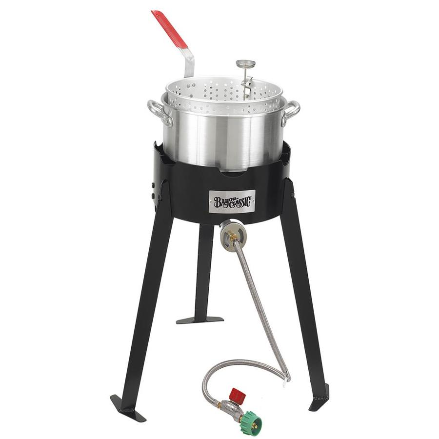 Bayou Classic Bayou Fish 19-in 20-lb Cylinder Manual Ignition Black Steel Jet Cooker