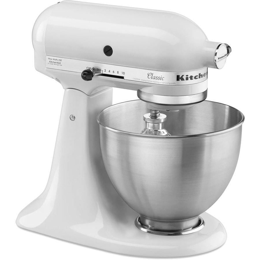 KitchenAid Classic Series 4.5-Quart 10-Speed White Stand Mixer