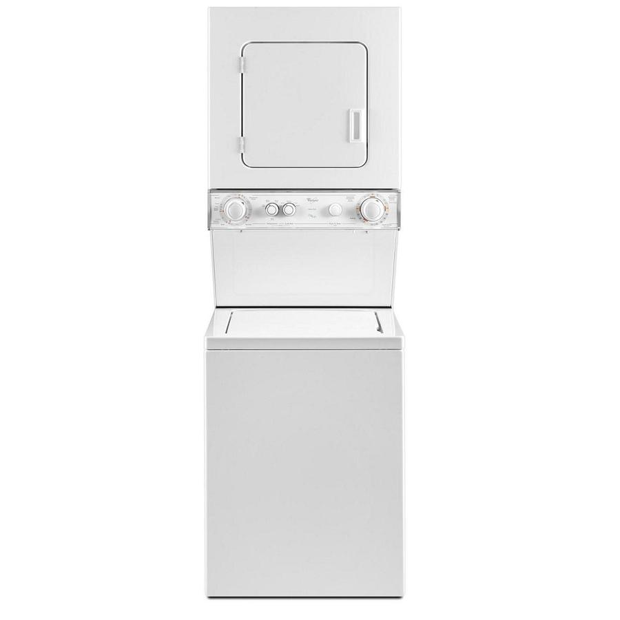 Shop Whirlpool Gas Stacked Laundry Center With 1 5 Cu Ft