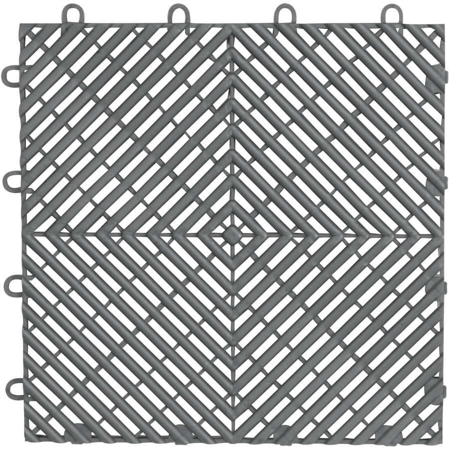 Gladiator 4-Piece 12-in x 12-in Silver Garage Floor Tile