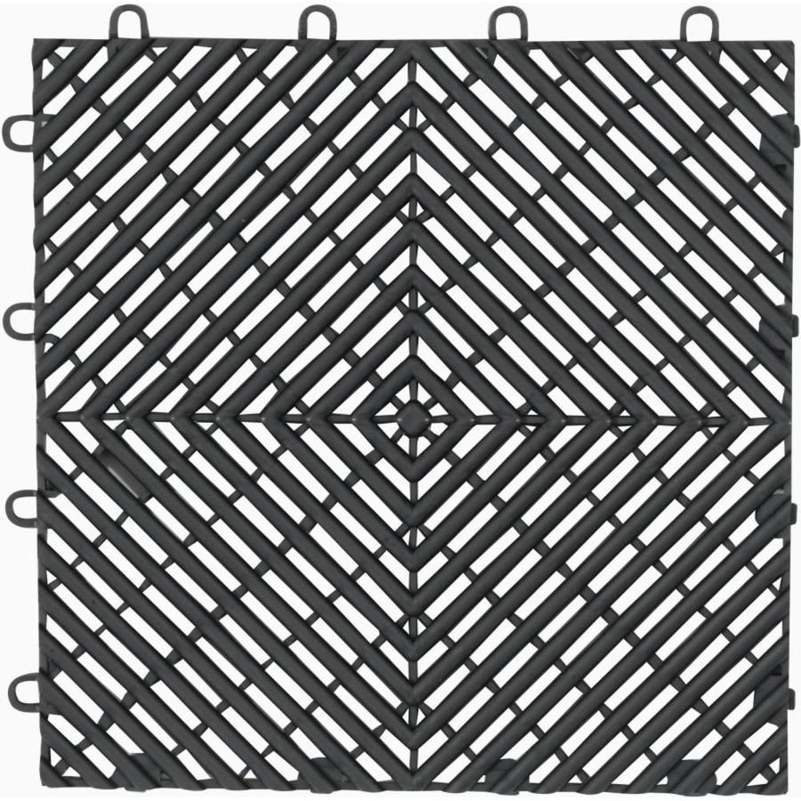Gladiator 4-Piece 12-in x 12-in Charcoal Garage Floor Tile
