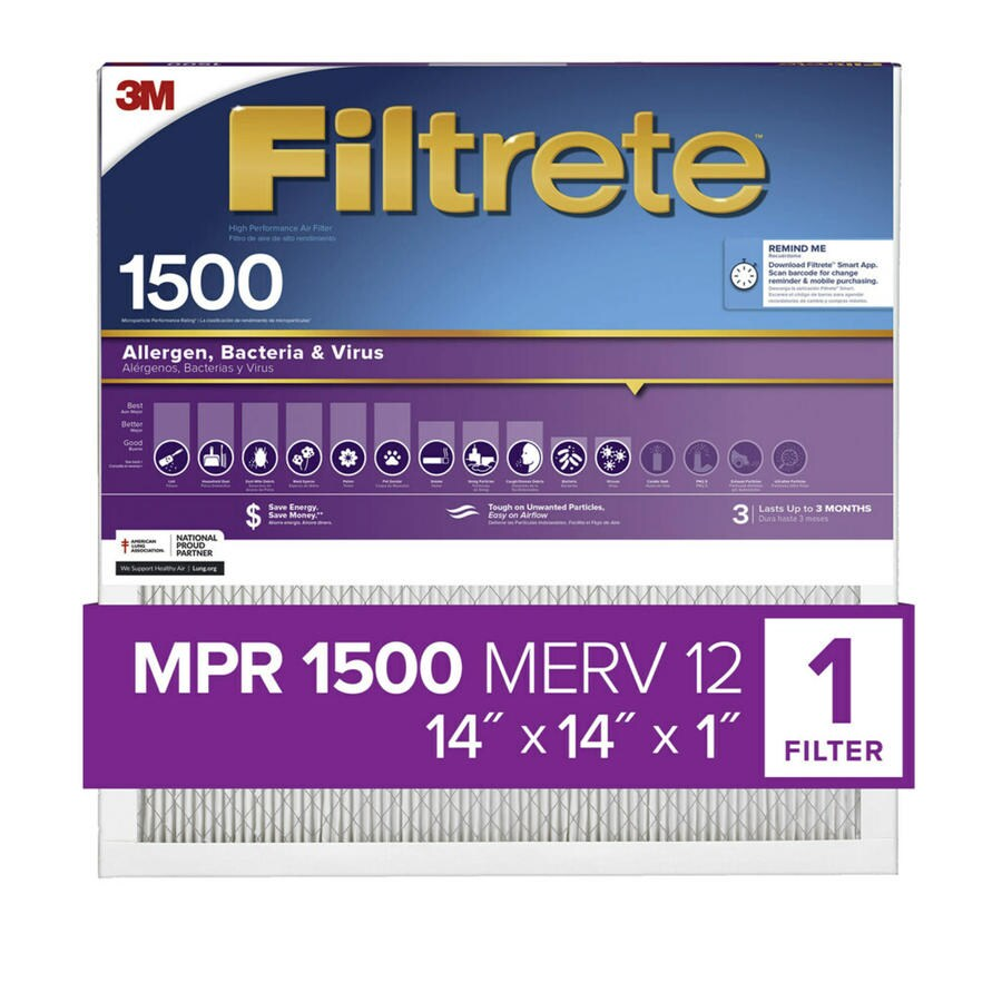 Filtrete Ultra Allergen Reduction Electrostatic Pleated Air Filter (Common: 14-in x 14-in x 1-in; Actual: 13.7-in x 13.7-in x 1-in)