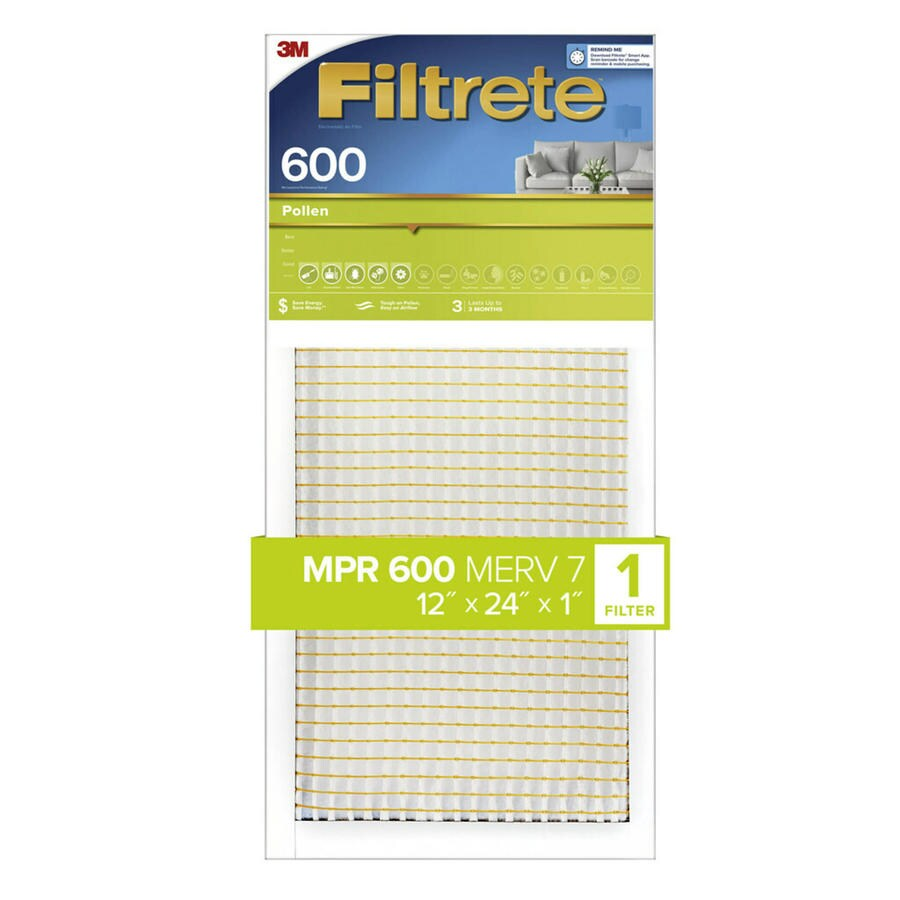 Filtrete (Common: 12-in x 24-in x 1-in; Actual: 11.7-in x 23.7-in x 0.8125-in) Dust and Pollen Reduction Electrostatic Pleated Air Filter