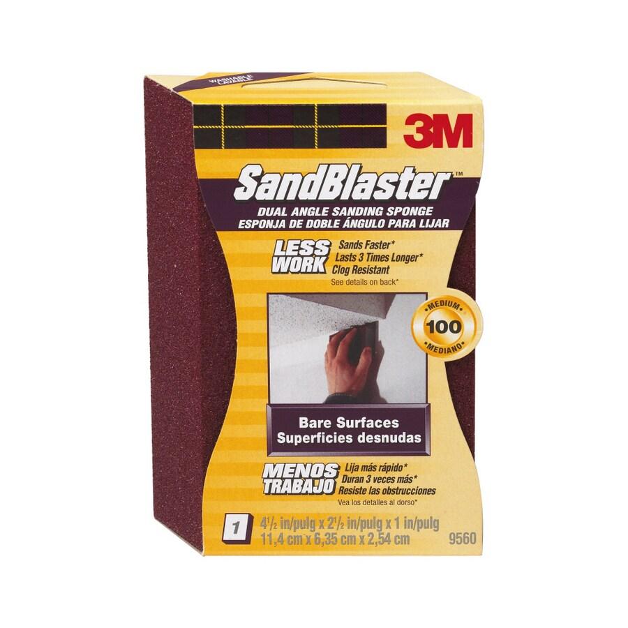 3M Dual Angle Sanding Sponge 100 4.5 In x 2.5 In x 1 In