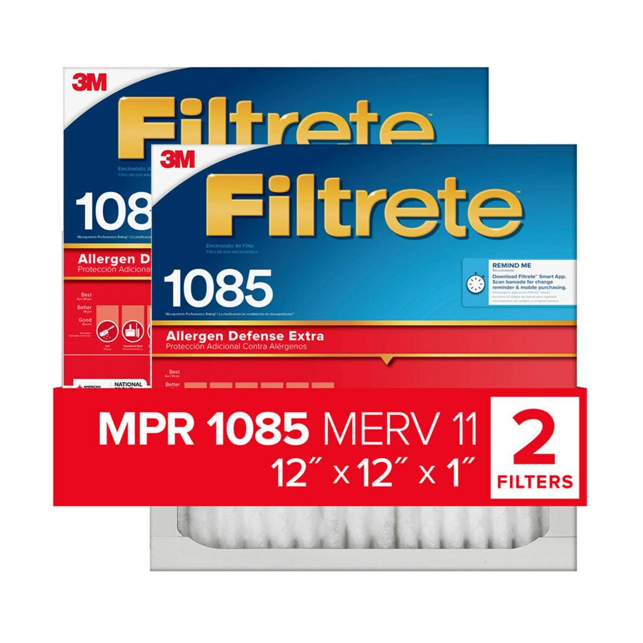 Filtrete 2-Pack Micro Allergen Extra Reduction Electrostatic Pleated Air Filters (Common: 12-in x 12-in x 1-in; Actual: 11.7-in x 11.7-in x 0.8125-in)