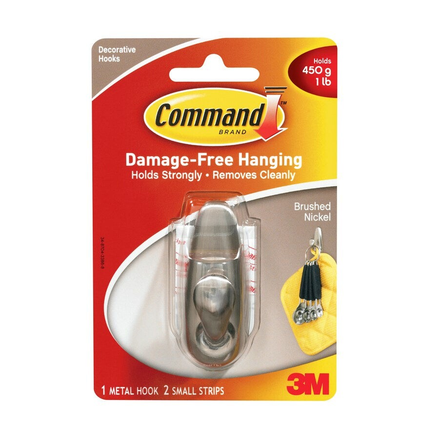 Command Zinc Alloy Adhesive Hook