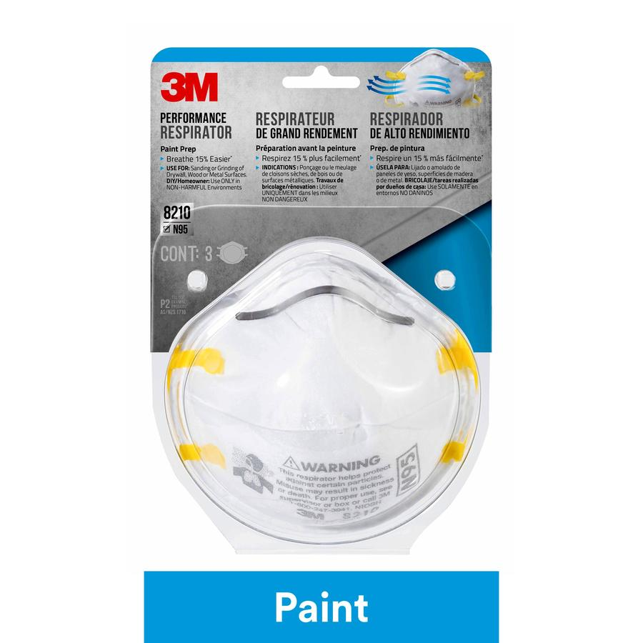 3M 3-Pack Sanding and Fiberglass Masks