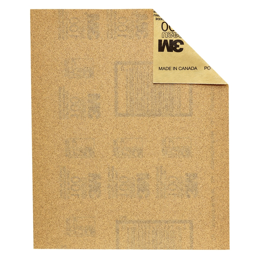 3M 20-Pack 9-in W x 11-in L 100-Grit Industrial Detail Sandpaper