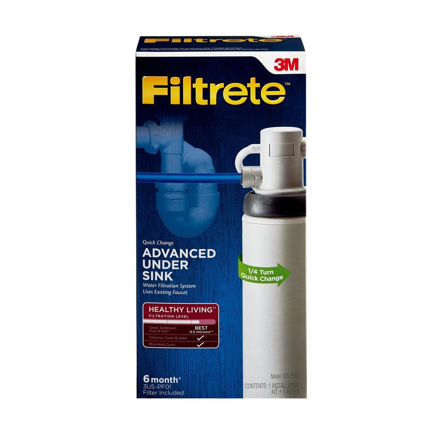Filtrete 13.875-in x 3.25-in x 4-in Under Sink Complete Filtration System