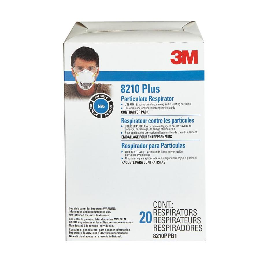 3M 20-Pack Disposable Sanding and Fiberglass Valved Safety Masks