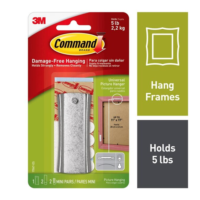 Holds 75 lbs 5 Pcs Picture Hangers Photo Frame Hanging Hooks Kit with Nails