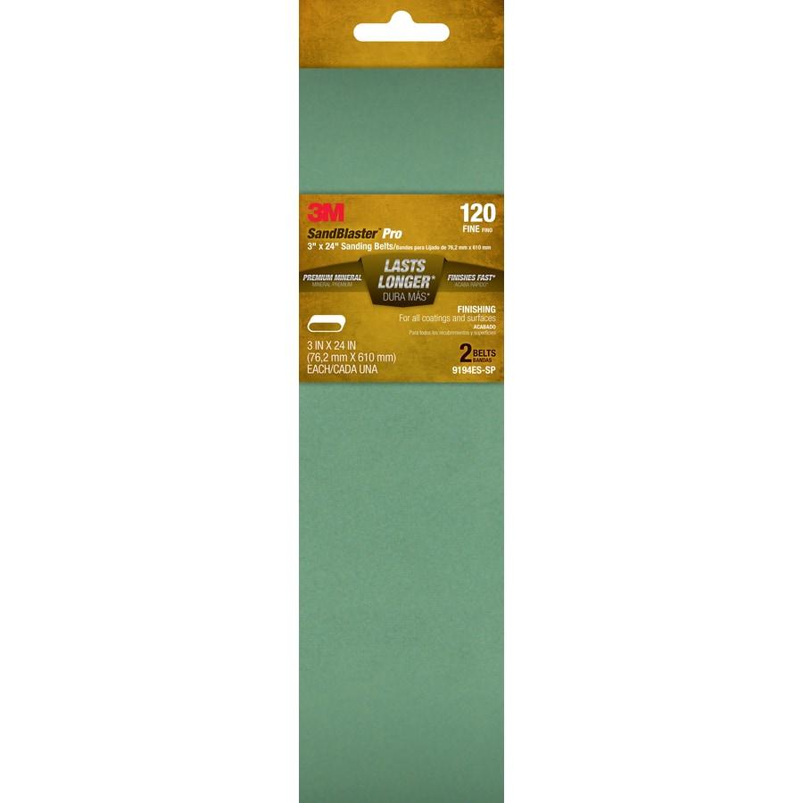 3M 2-Pack 3-in W x 24-in L 120-Grit Commercial Belts Sandpaper