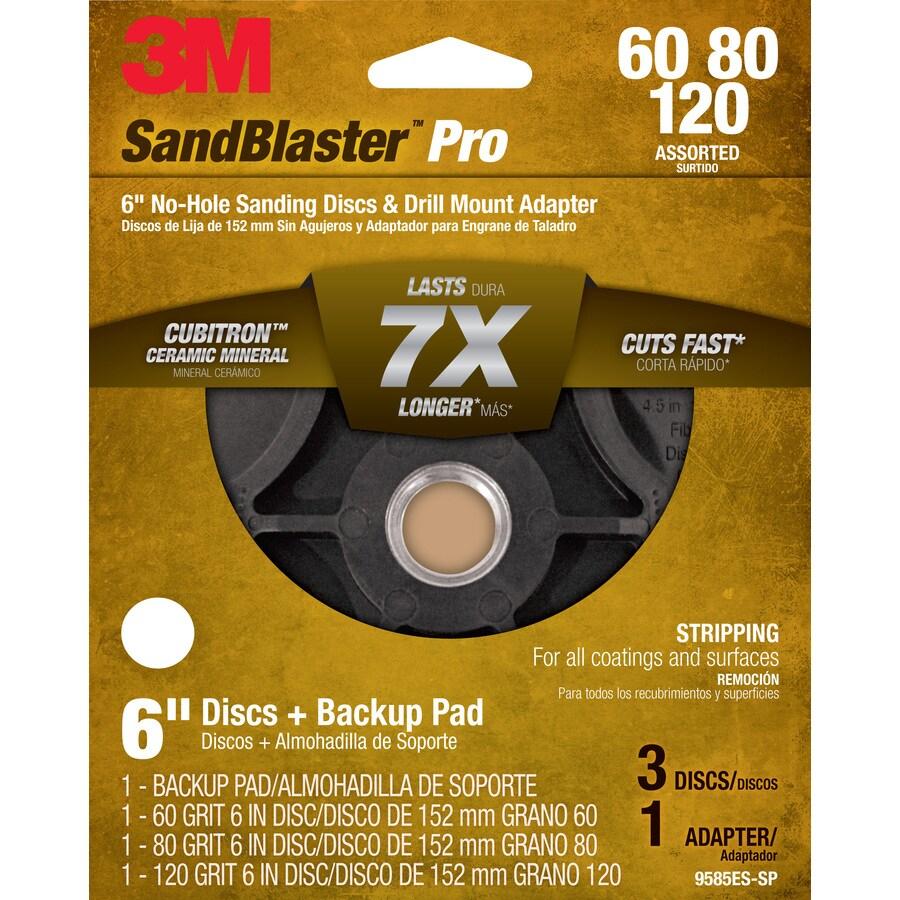 3M 6-in W x 6-in L Multi-Grade Pack Commercial Discs Sandpaper