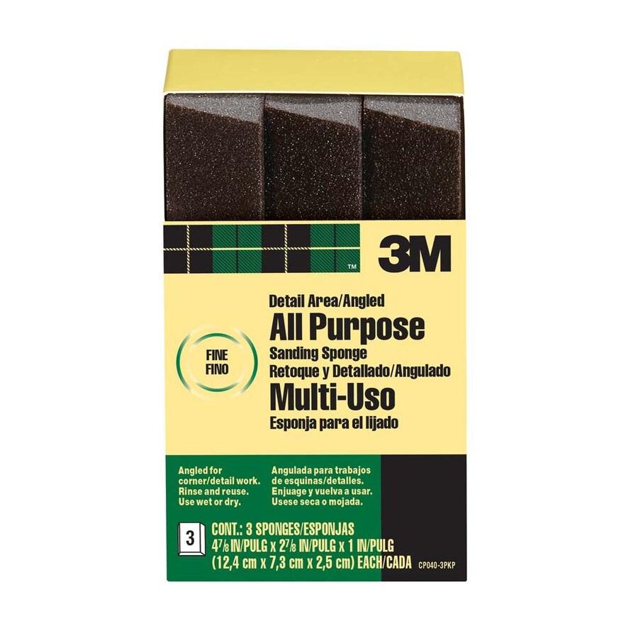 3M 2.87-in x 4.62-in Commercial Sanding Sponge