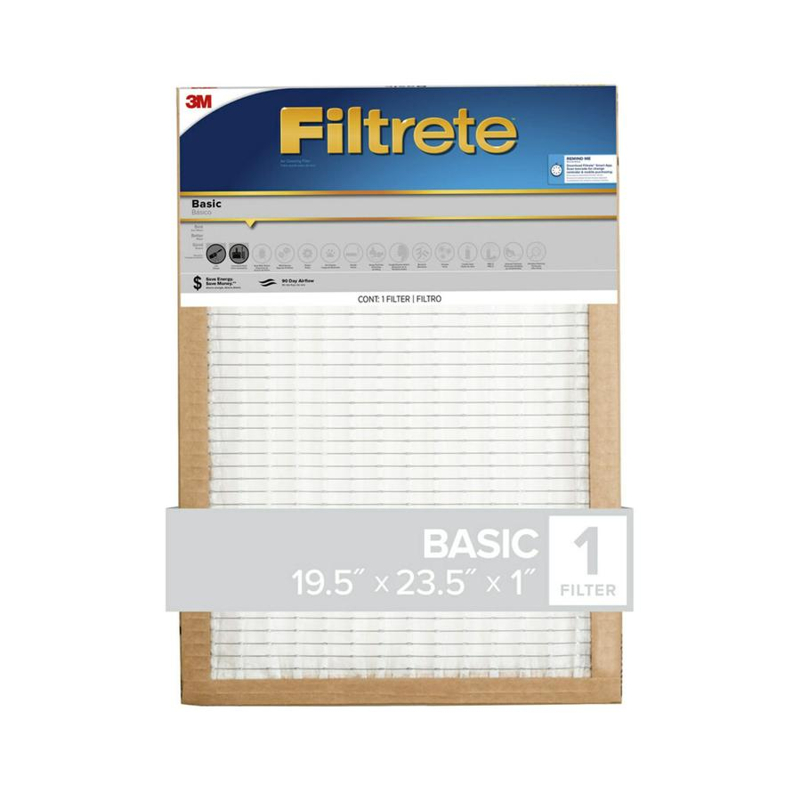 Filtrete (Common: 19.5-in x 23.5-in x 1-in; Actual: 19.375-in x 23.375-in x 0.8125-in) Basic Pleated Pleated Air Filter