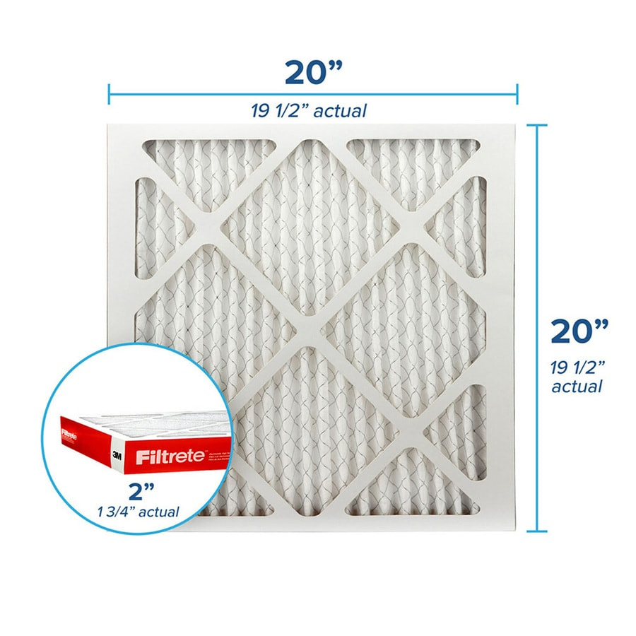 Filtrete (Common: 20-in x 20-in x 2-in; Actual: 19.6-in x 19.6-in x 1.75-in) Pleated Air Filter