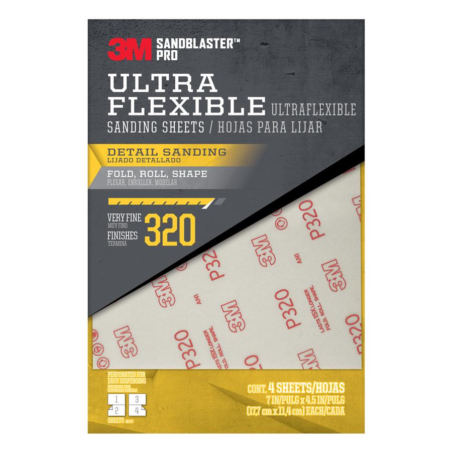 3M 4-Pack 4.5-in W x 7-in L 320-Grit Premium Film Sandpaper