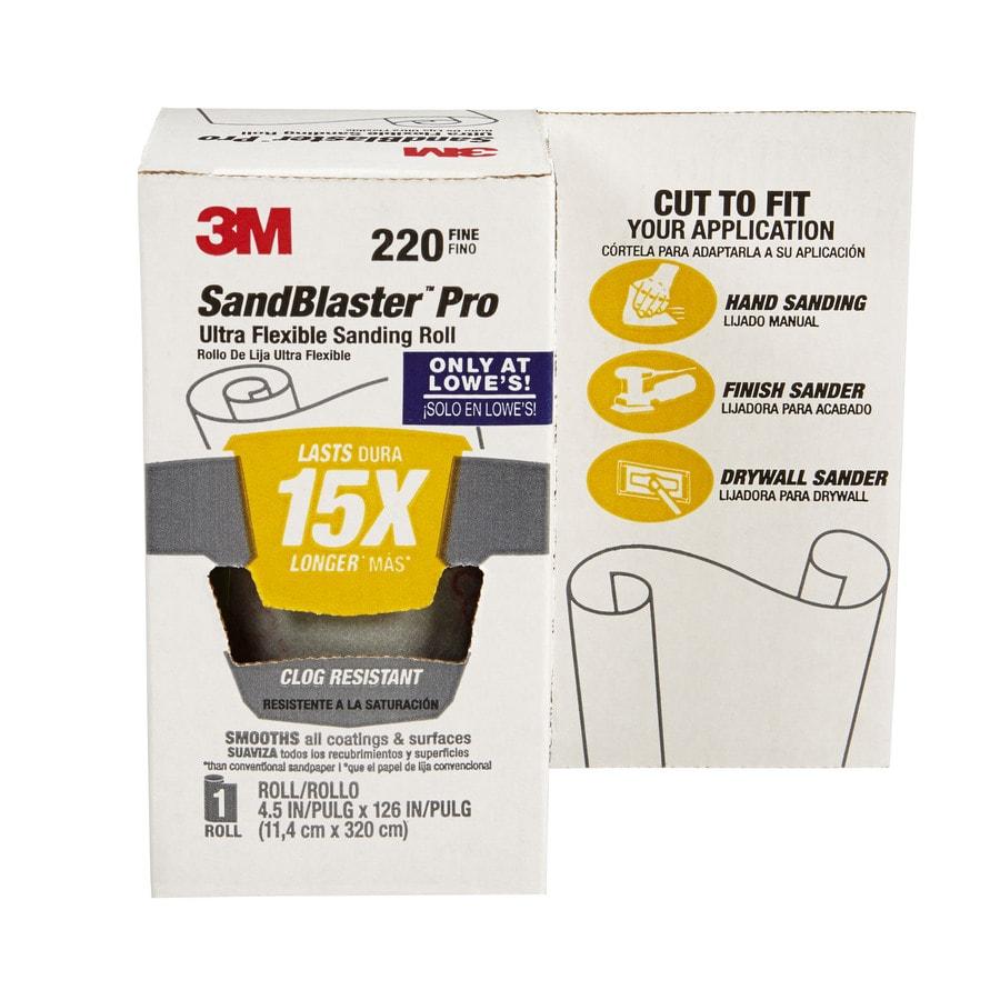 3M 4.5-in W x 126-in L 220-Grit Premium Film Sandpaper